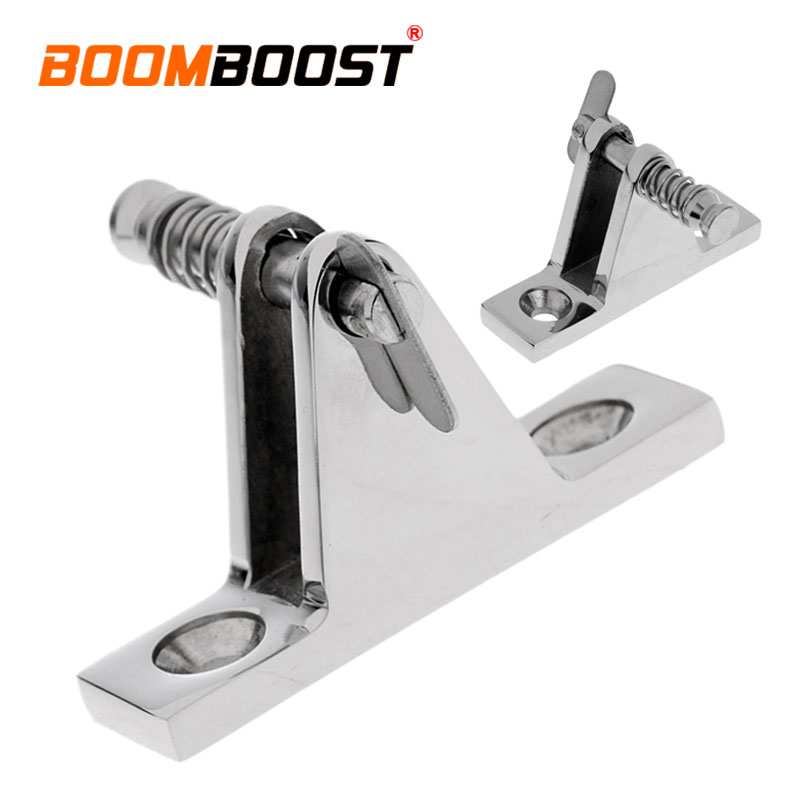 Atv,rv,boat & Other Vehicle United 1 Pcs Stainless Steel Silver Fit For Boat Marine Hardware 90 Degree With Quick Release Top Deck Hinge Removable Bolt/pin Crazy Price