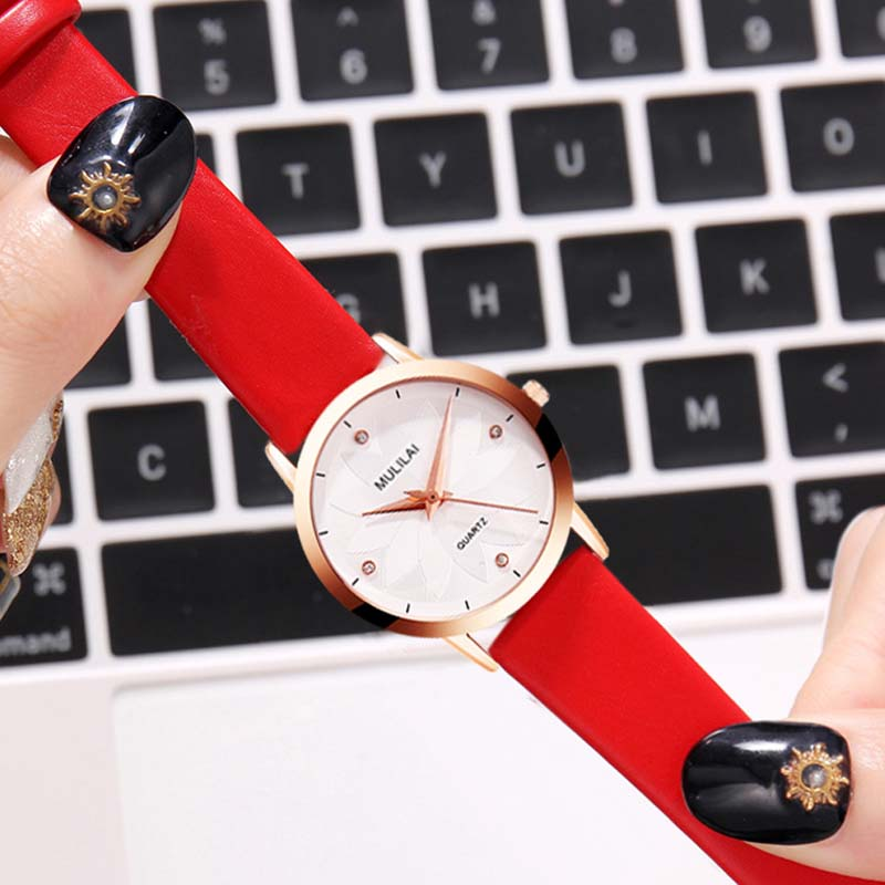 Top Brand Women's Watches Fashion Leather Wrist Watch Women Watches Ladies Watch Clock Mujer Bayan Kol Saati Montre Feminino newly design dog pug watch women girl pu leather quartz wrist watches ladies watch reloj mujer bayan kol saati relogio feminino