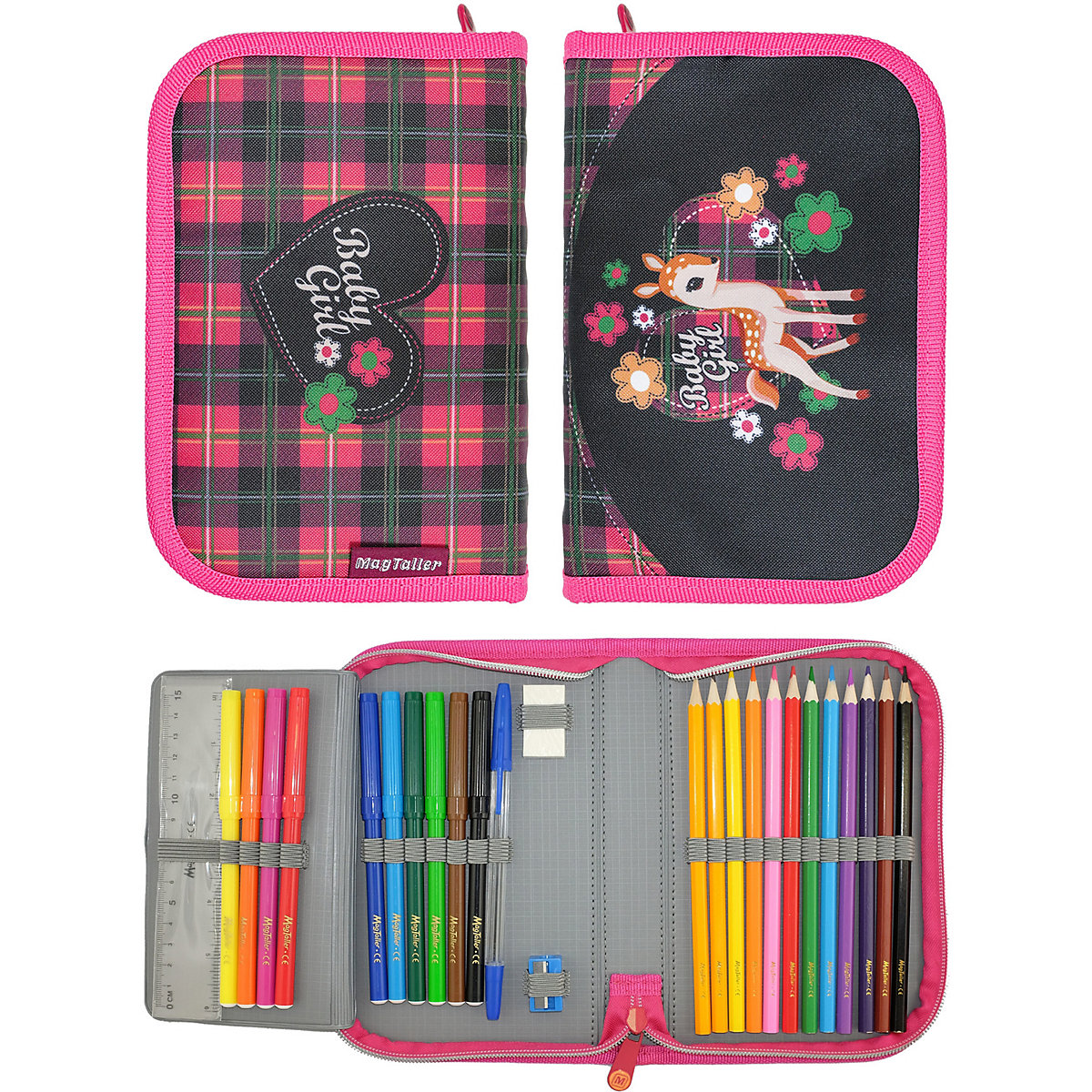 Pencil Cases MAGTALLER 11154896 school supplies stationery pencil cases for girls and boys drawing MTpromo angibabe office and school stationery pencil sharpener pink