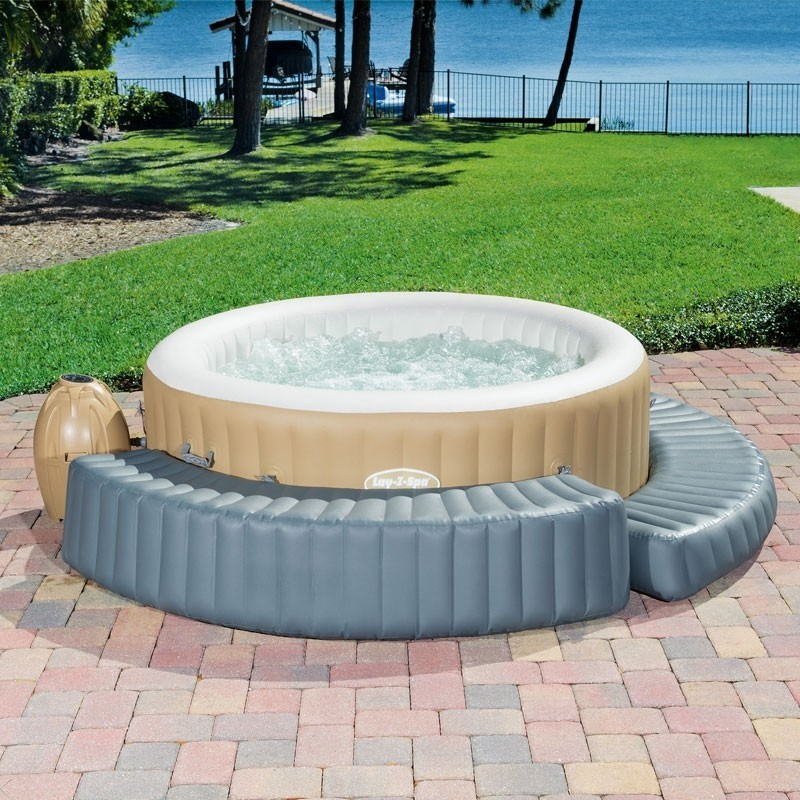 "58432 Bestway 200x40x40cm Inflatable Spa Surround 78""x16""x16"" Solid Step For Round SPA To Sit Or Lie On Made Of Tritech Material"