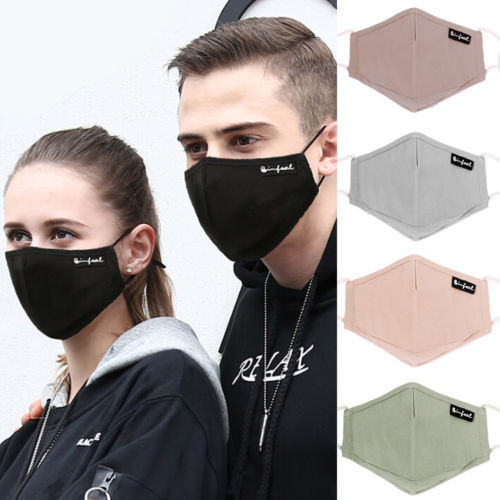 Women Men Unisex Adult PM2.5 Anti-dust Mask Cotton Breathable Mouth Face Carbon Filter Respirator Mask