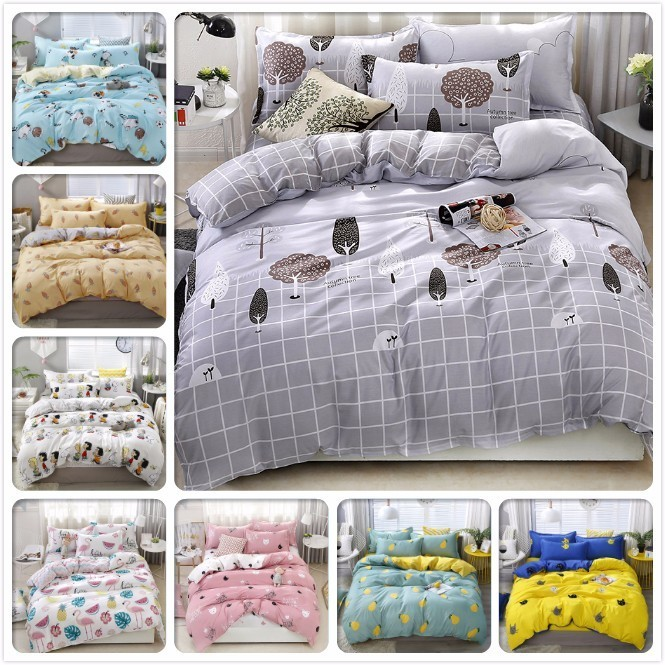 New Gray Duvet Cover Bedding Set Adult Kids Soft Cotton Bed Linen Single Full Queen King Big Size Bedspreads 180x2200 220x240 Cm