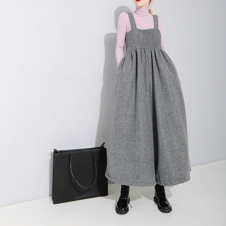 Las Pantalones Formal Pantalón Oficina gris Otoño Invierno Ancho Mujeres Moda Elegante Pierna Negro E De Ol La qw4pgx