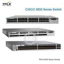 Совершенно аппарат не Привязанный к оператору сотовой связи WS-C3850 серии WS-C3850-48T-L PoE коммутатор 48x10/100/1000 порты UPOE данных LAN в базу переключатель