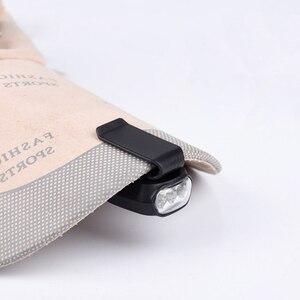 Image 2 - 3 led クリップキャップライトホワイト懐中電灯キャンプクリップオンキャップ/ハットライトランプサイクリングハイキングキャンプキャップライトボタンバティ