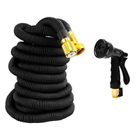 Hot Expandable Flexible Garden Water Hose Pipe 8 Mode Spraing Spray Nozzle Gun 25 50 75 100 FT Good Quality Watering Irrigation
