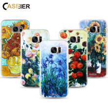 CASEIER Oils Cases For Samsung Galaxy S6 S7 Edge S8 S8 Plus Note 8 Case Soft TPU 3D Case For Samsung S6 S7 S8 Funda Capa Coques все цены