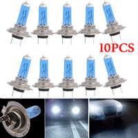10pcs H7 55W 12V 6000K Bulbs Super White Fog Lights High Power Car Headlight Car Light Source