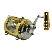 Fishing Trolling Saltwater Metal Reel Spinning Baitcasting Drum Wheel Jigging Casting  Right Handle Aluminum
