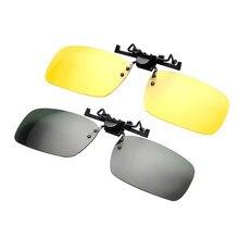62edd4181f 1 pc vision nocturne Lecteur Lunettes Unisexe Polarisées clip de lunettes  de soleil Conduite de Nuit Simple lunettes de vision E..