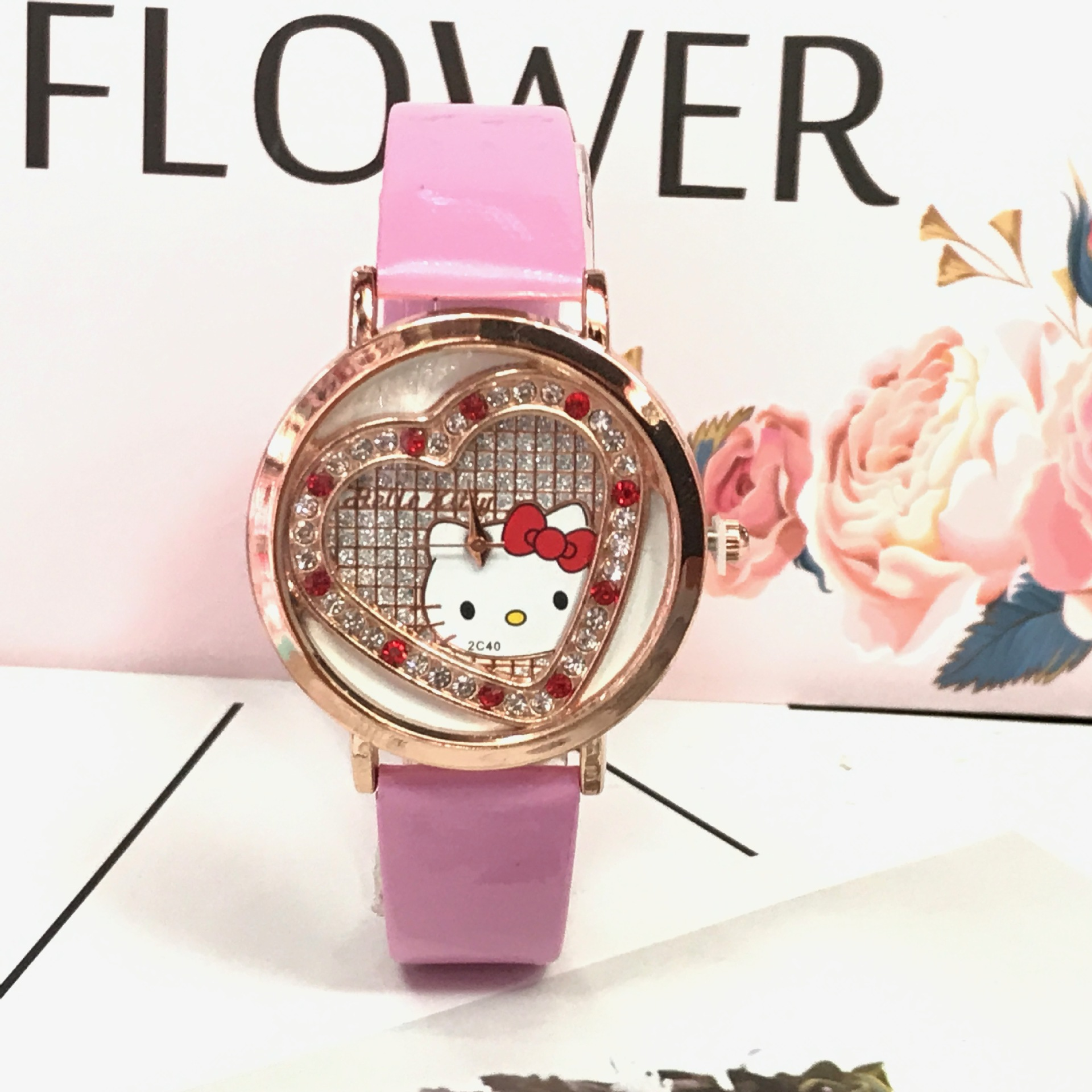 Drilled Watch Fashionable Cartoon Crystal Watch For Girls And Children Wristwatch Reloj De Estudiante
