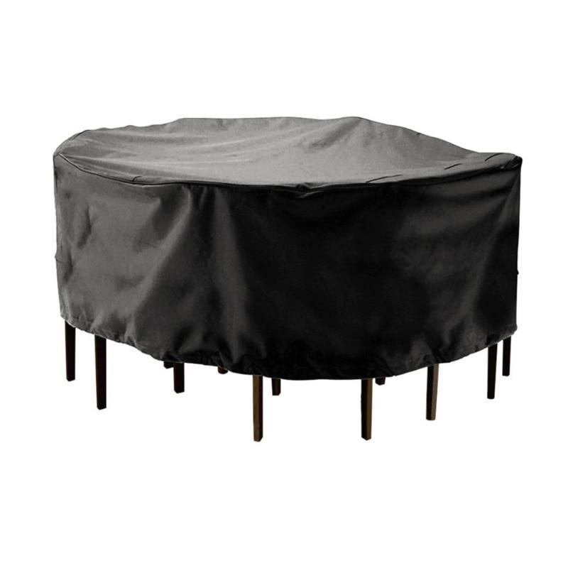 Круглый Водонепроницаемый Пылезащитный чехол 210D полиэстер на стол для сада, террасы случае стул открытый пыле непромокаемые протектор меб...