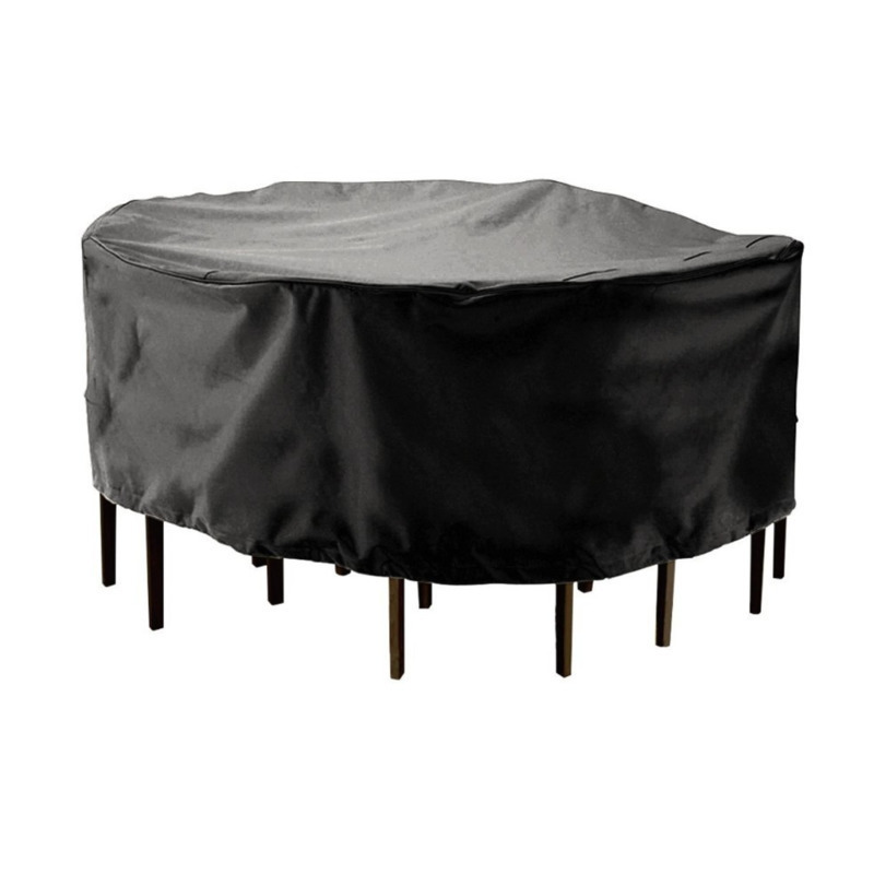 Round Waterproof Dust Cover 210D Polyester Garden Patio Table Chair Case Outdoor Dustproof Rainproof Furniture Protector small grill cover