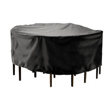 Round Waterproof Dust Cover 210D Polyester Garden Patio Table Chair Case Outdoor Dustproof Rainproof Furniture Protector
