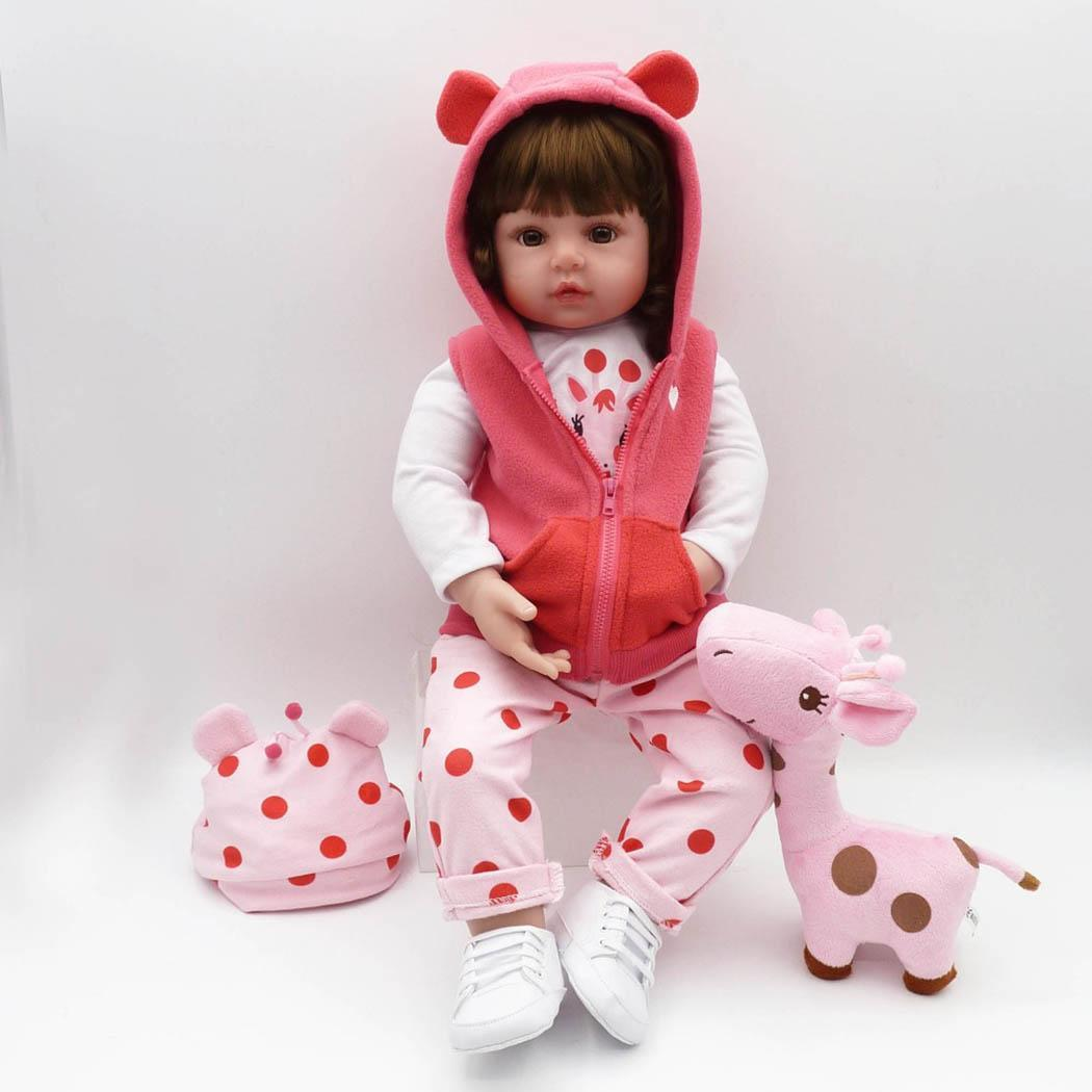 Kids Soft Silicone Realistic With Clothes Reborn 2-4Years Collectibles, Gift, Playmate Baby Pink DollKids Soft Silicone Realistic With Clothes Reborn 2-4Years Collectibles, Gift, Playmate Baby Pink Doll