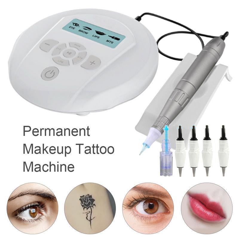 Tattoo Micro Needle Machine Smooth Quiet With Powerful Rotating Motor Machine Permanent Makeup Eyebrows Lip Micropigmentation