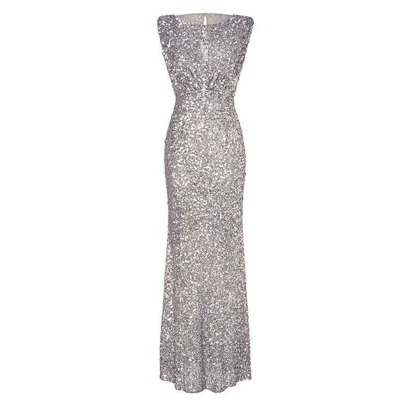 Sexy Women Evening Party Wedding Prom Trumpet Sequin Long Maxi Dress