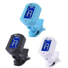 eno Guitar Tuner Mini Clip-on Electric Guitar Tuner Foldable Rotating Clip High Sensitivity Ukulele Guitar Part Accessory ET-33