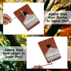 Image 3 - קלימבה 17 מפתח גוני פסנתר אגודל mbira כלי נגינה אפריקה אצבע פסנתר 30key מכונה 21 מפתח instrumento מוסיקלי