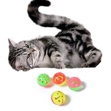 10 шт. игрушка для домашних животных красочный котенок питомец игровые мячи с Jingle легкий колокольчик погоня погремушка игрушка для кошки