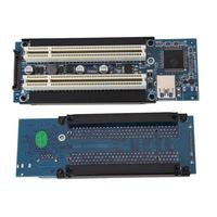PCI E Express X1 to Dual PCI Riser Extend Adapter Card with 1M USB3.0 Cable for WIN2000/XP/Vista/Win7/Win8/LINUX