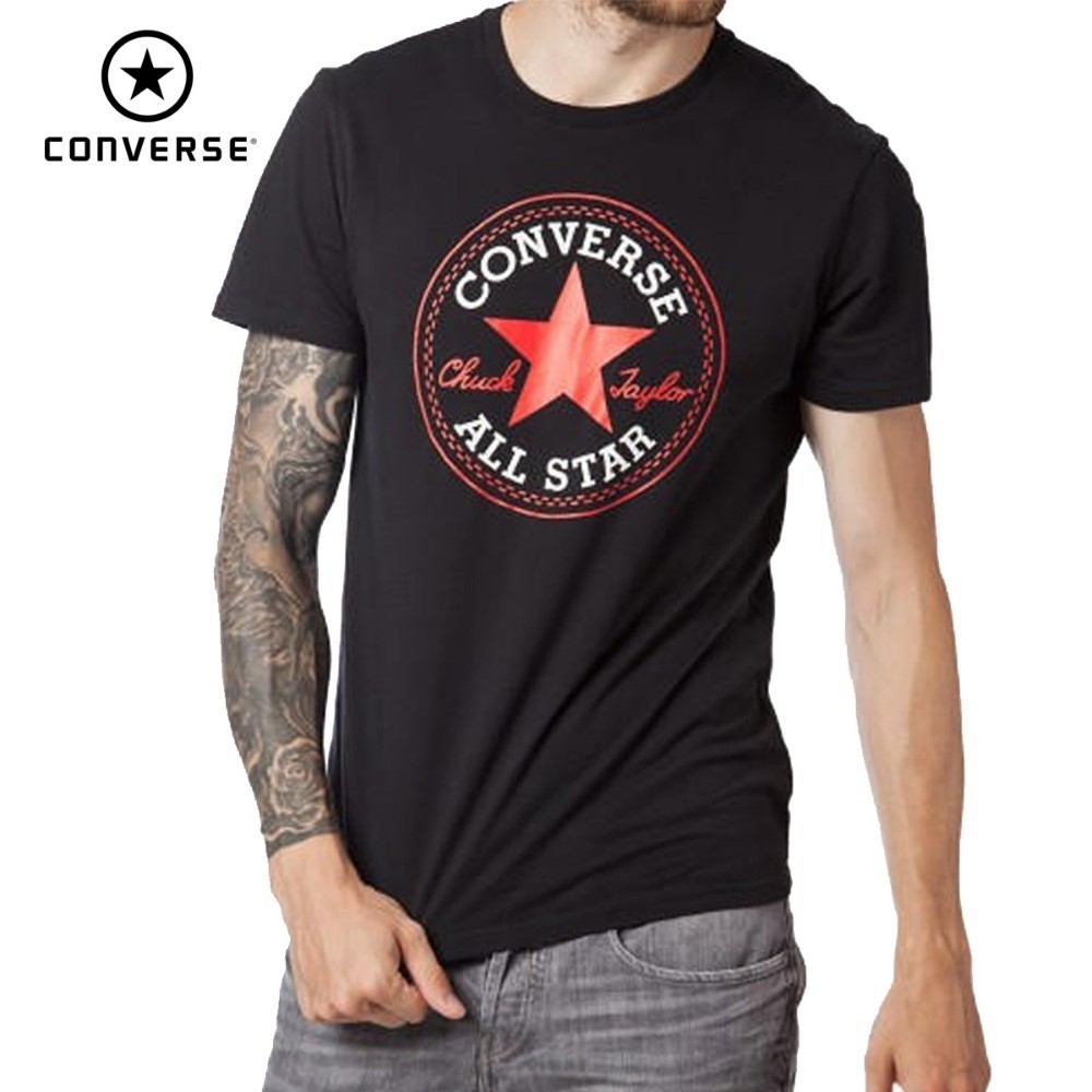 Converse All Star Running T-shirt Short Sleeve Breathable Cotton Sports Shirts10007853Converse All Star Running T-shirt Short Sleeve Breathable Cotton Sports Shirts10007853