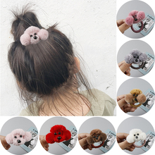Japan and Korean new hot selling hair ring 3D  dog hairpin cute creative cartoon modeling rubber band ponytail