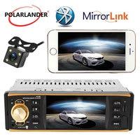 Autoradio 4.1 Inch Car Radio 1 Din radio cassette player Multilanguage USB AUX FM Bluetooth Steering wheel control Audio Stereo