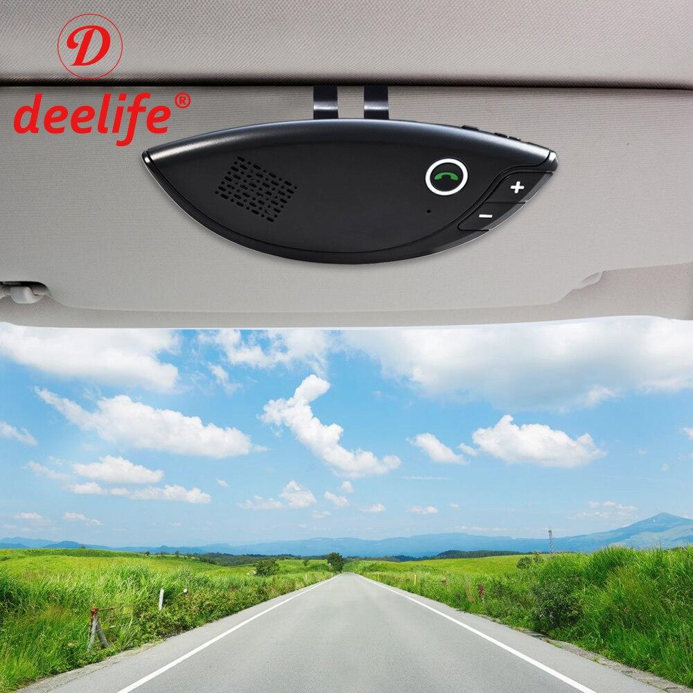 Deelife Handsfree Car Bluetooth Kit Auto Hands Free Speaker Carkit Sun Visor Clip for Mobile Phone Wireless Speakerphone|Bluetooth Car Kit| |  -
