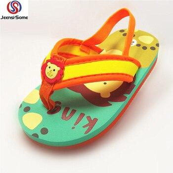 Beach Slippers Kids Flip Flops Boys Sandals for Boy Barefoot Shoes Lion Sea Slipper Kid Water Children Summer Swim