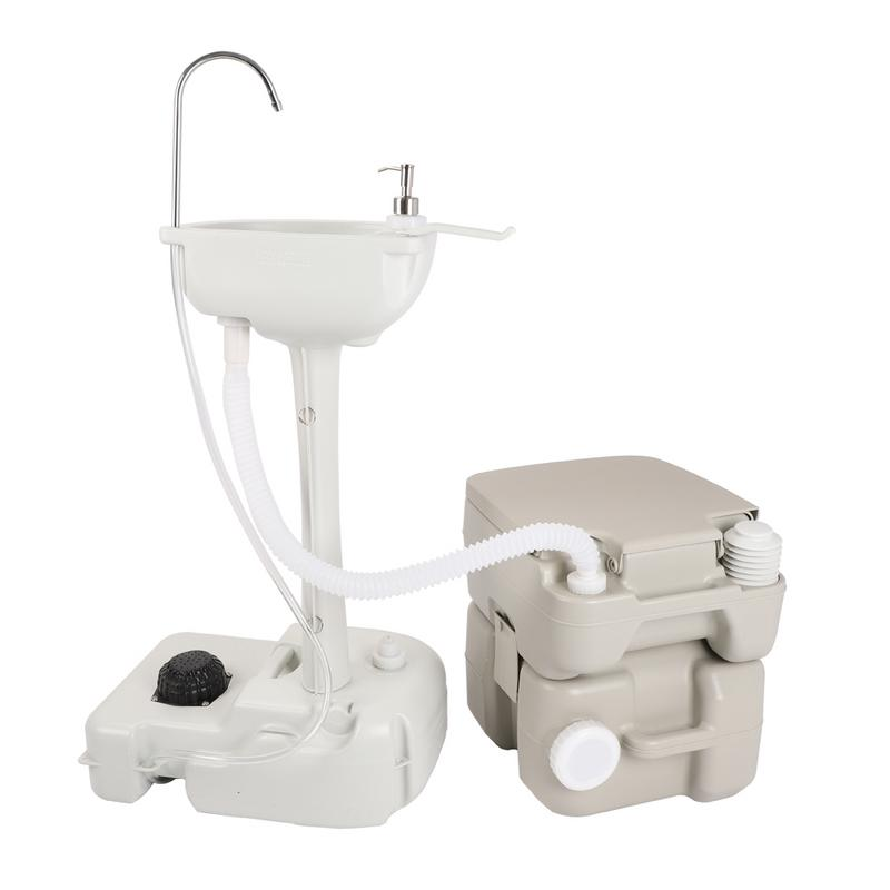 CHH 7701 1020T Portable Removable Outdoor Hand Sink with Portable Toilet in Bathroom Accessories Sets from Home Garden