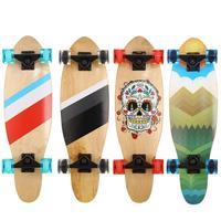 Four wheel Mini Cruiser 22 inch Skate Board Complete Deck Retro Classic Style Mini Skateboard Adult Children Skateboard Truck