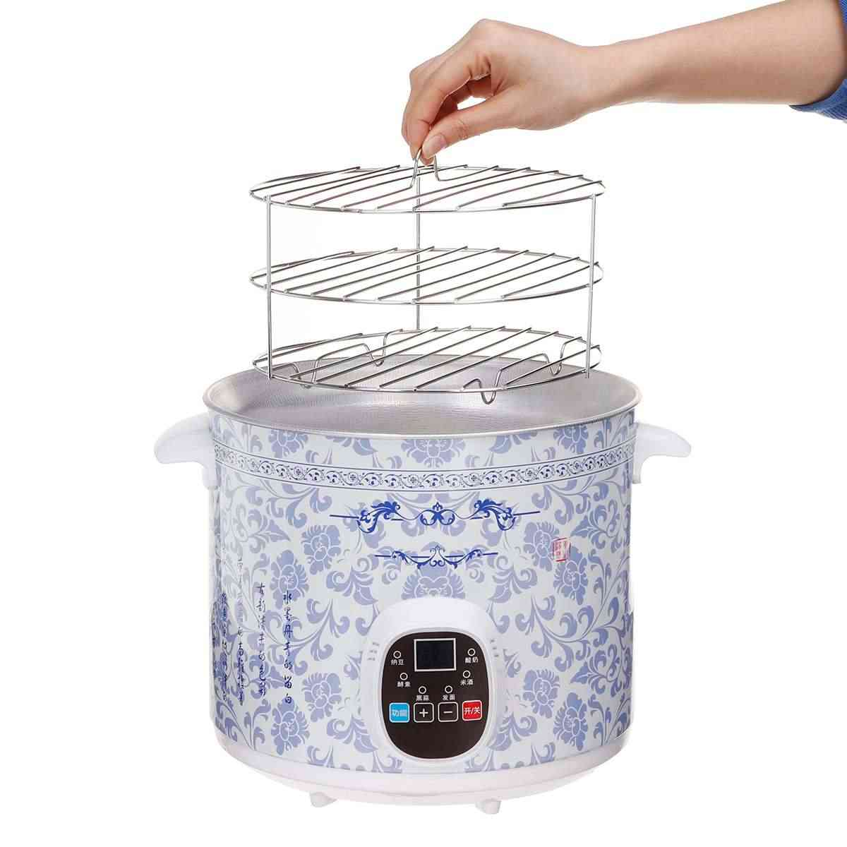 6L автоматический черный чеснок ферментер дома DIY 220V Многофункциональный Zymolysis йогурт производитель Natto рисовое оборудование для производства вина Новое поступление 2019