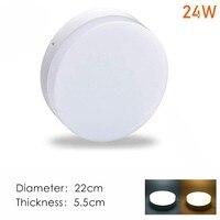 LED Downlight 24W Round panel light Ceiling mounted lamp AC 110V 220V 230V 240V bedroom kitchen bulb Indoor led spot lighting