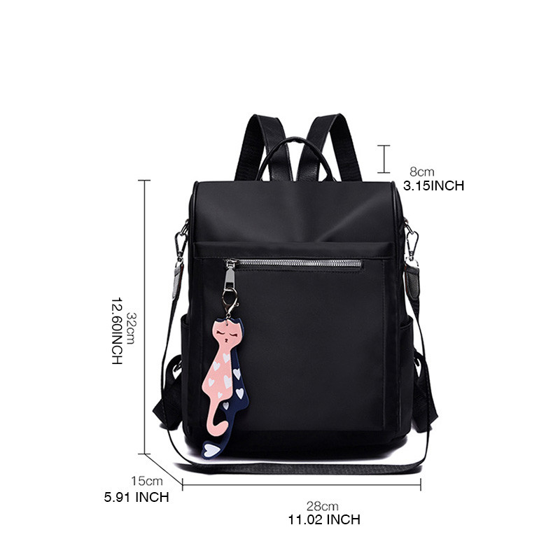 DIZHIGE Brand Tassel Backpack For Women Waterproof Oxford Backpack Teenager Girls Big Capacity Book Bag Female Anti Thef Mochila in Backpacks from Luggage Bags