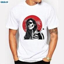 GILDAN  latest men tshirt fashion Japanese Samurai design t-shirt mens camisetas hombre cool funny skull t shirt