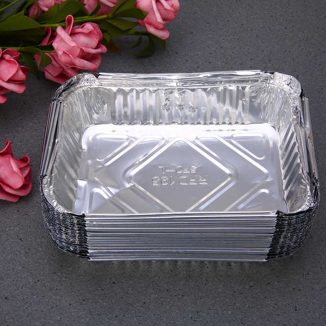 30x BBQ Aluminum Foil Grease Drip Pans Recyclable Grill Catch Tray Weber Outdoor For Indirect Cooking