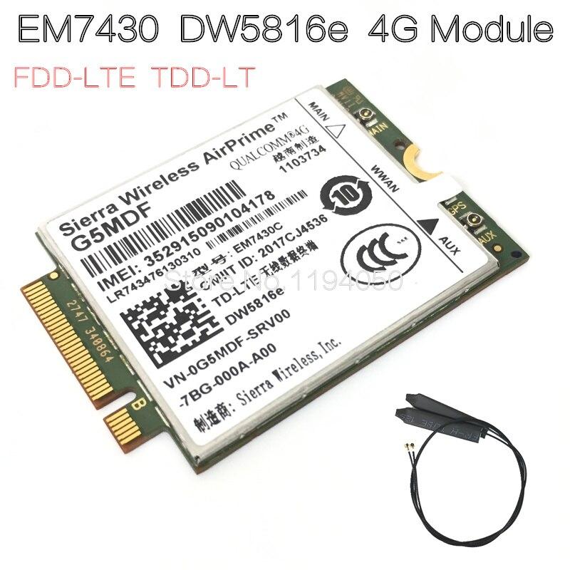 EM7430 DW5816e GOBI6000 4G LTE DW5816 dla Dell Latitude 7280 7285 7290 7389 7390 7480 7490 E7470 Cat6 300 M 4G moduł w Modemy 3G od Komputer i biuro na AliExpress - 11.11_Double 11Singles' Day 1
