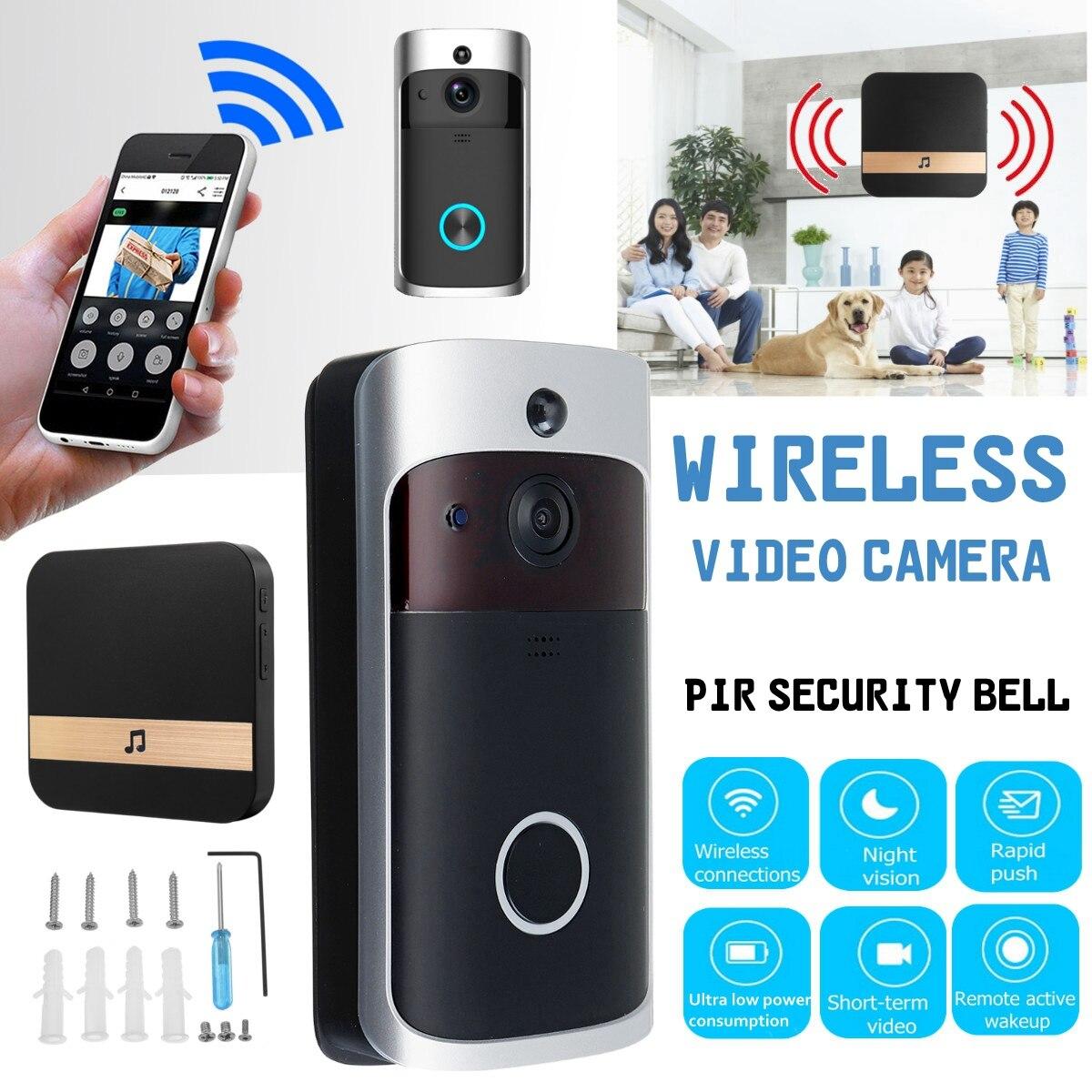 WIFI Wireless Video Campanello per Porte A due Vie Parlare di Smart IR Telefono di Casa Telecamera di Sicurezza