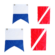 4pcs Nylon Scuba Diving Dive Boat Charter Diver Down Flags Nautical Signal Flags charter school report card