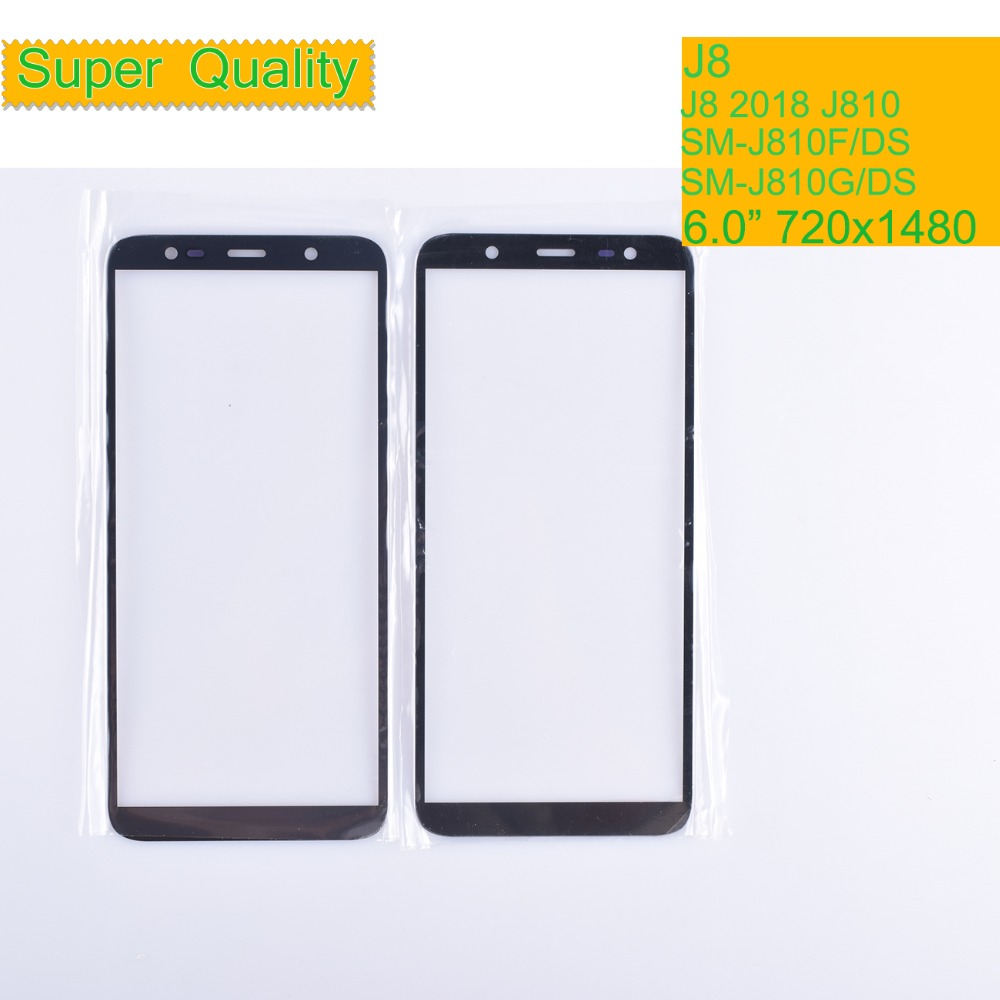 10Pcs/lot For Samsung Galaxy J8 2018 J810 J810F SM-J810F/DS J810G Ouch Screen Front Outer Glass TouchScreen Lens LCD Front