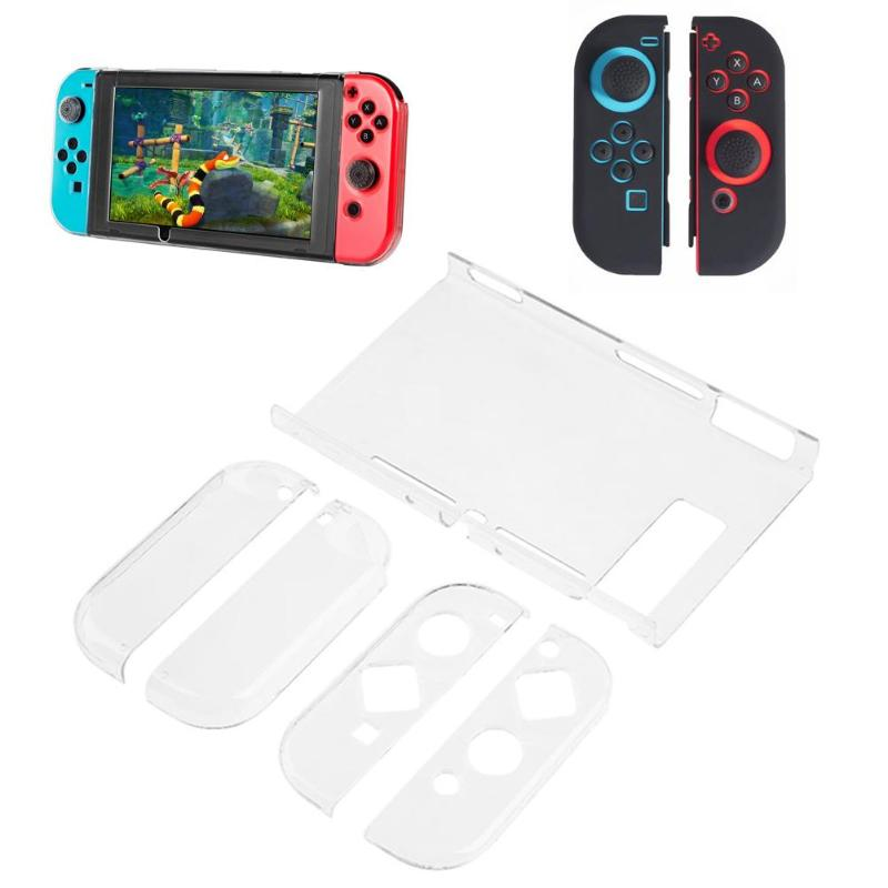 Transparent Crystal Clear Hard Case Shell Cover Protective For Nintend Switch NS Console Joy-Con Handle Grip Game Console