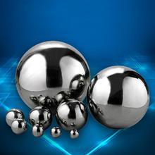 Блестящий шар из нержавеющей стали 304, зеркальный полый шар для украшения дома и сада, 19 мм~ 300 мм