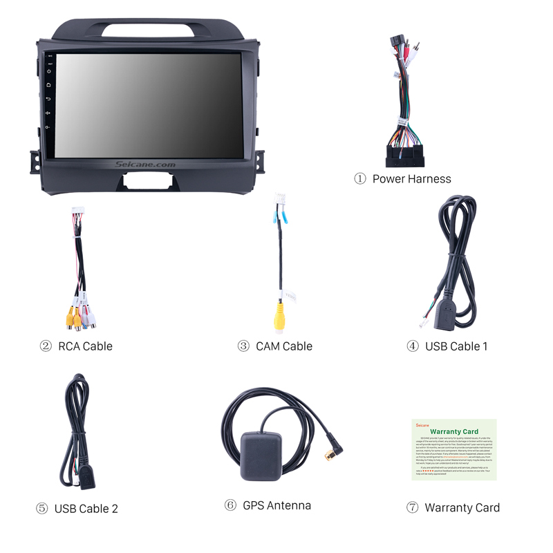 Seicane 9 inch Android 8 1 GPS Car Radio For KIA Sportage 2010 2011 2012  2013 2014 2015 2Din Wifi Multimedia Player Head Unit
