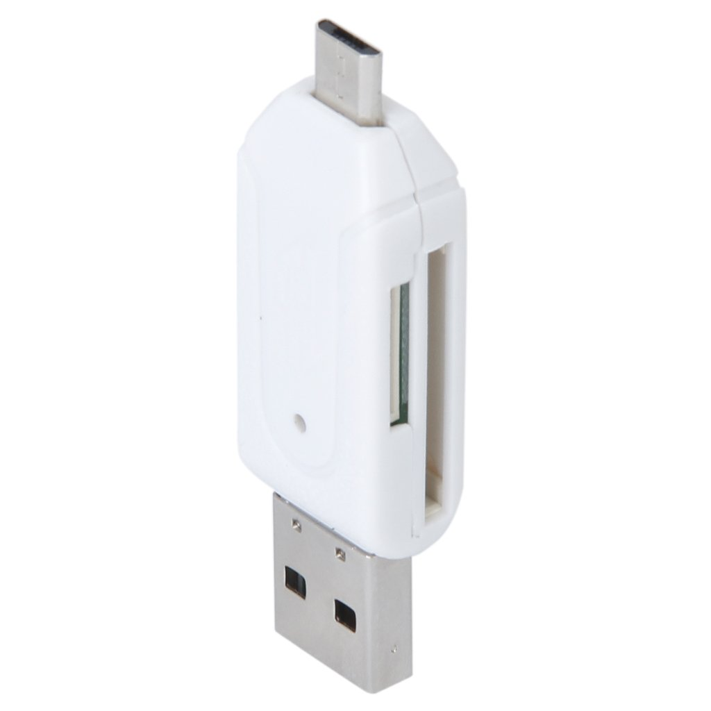 USB 2.0 + USB Mini OTG SD Card Reader Cell Phone Tablet PC