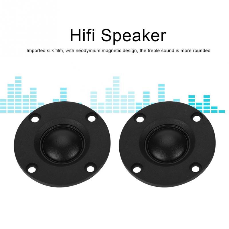 2 Pcs 30 W Seide Film Dome Hochtöner Höhen Lautsprecher Hifi Lautsprecher 20mm Vibrierende Membran Schwarz Schnelle Farbe