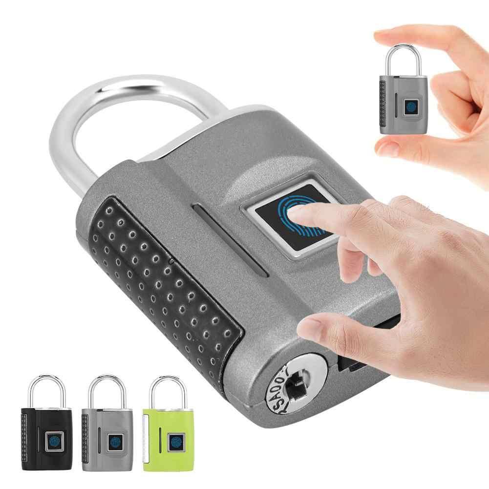3,7 в умный отпечаток пальца без пароль разблокировка замка настраиваемый замок для чемодана багажный рюкзак черный зеленый серый