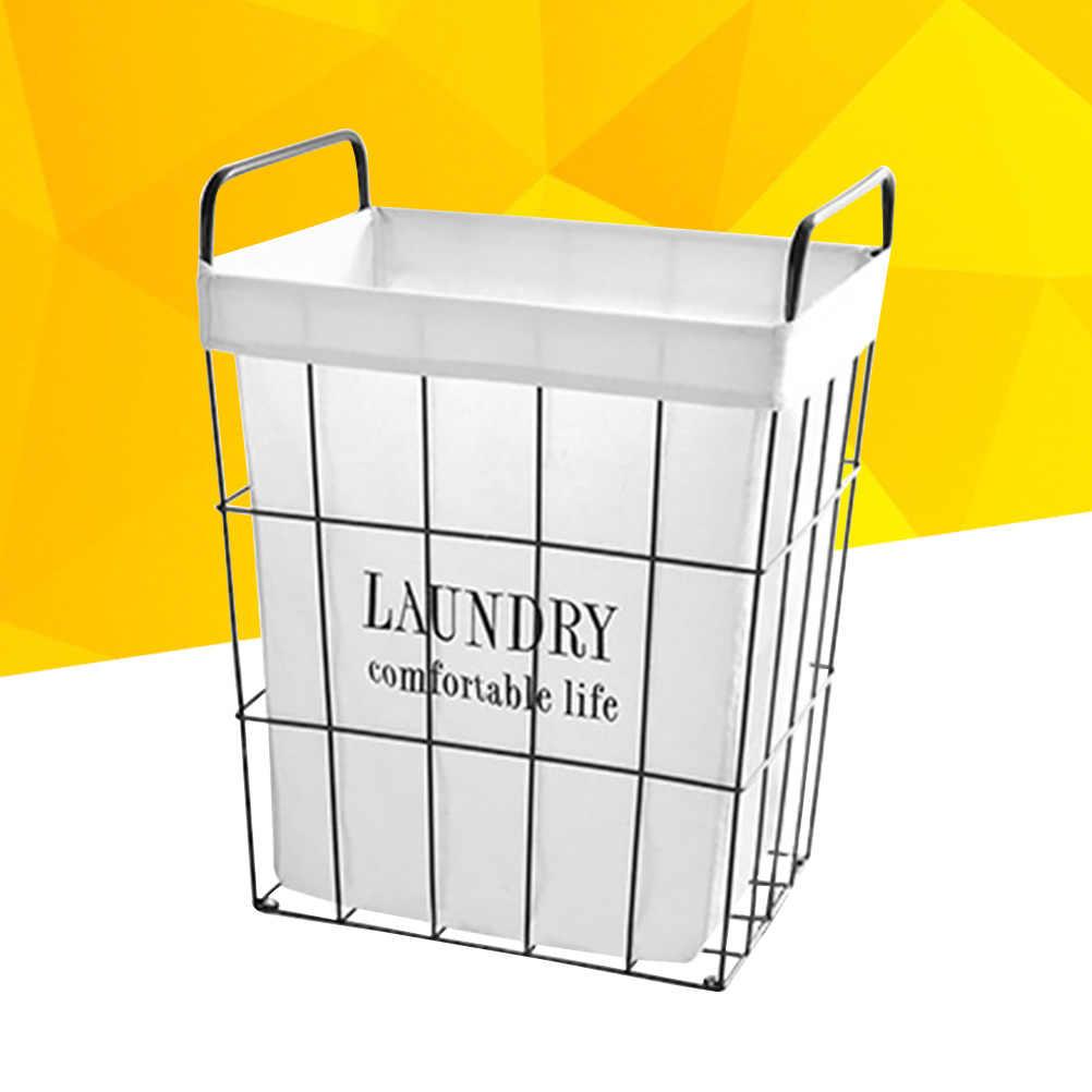 1 pc Lavanderia Bin Organizador Lavanderia Roupa Suja Cesta De Armazenamento Cesta Retro Oco para Viveiros Armários Quartos Dormitórios