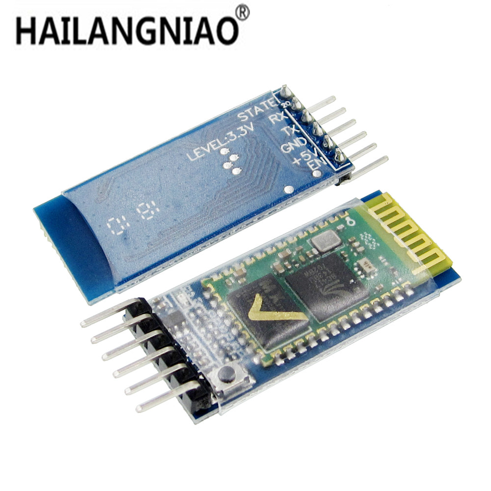 50pcs LOT HC05 HC 05 JY MCU anti reverse integrated Bluetooth serial pass through module HC