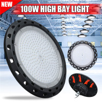 High Quality LED High Bay Light 100W 20000LM Commercial Warehouse Industrial Lamp Factory Warehouse Lighting AC85 265V